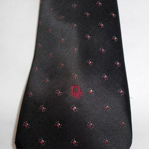 Christian Dior Monsieur Tie Black with Red Dot